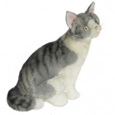 Grey Tabby Plush Cat